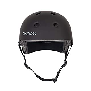 Retrospec CM-2 Classic Commuter Bike/Skate/Multi-Sport Helmet, Matte Black, Medium: 55-59 cm / 21.75 - 23.25 inches