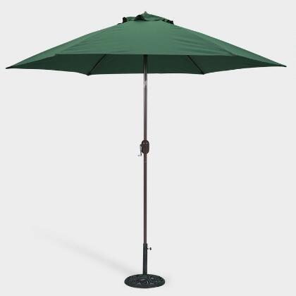 Wicker HUB GC505 Center OPNNING Umbrella Green