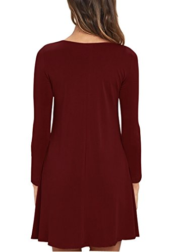63ed76e5c862 ... long Sleeves T Wine Dresses Red Dress Cyber Viishow Pockets Women's  Swing Sleeveless 01 Monday Casual ...