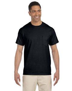 Gildan Mens 6.1 oz. Ultra Cotton Pocket T-Shirt G230 -BLACK 5XL