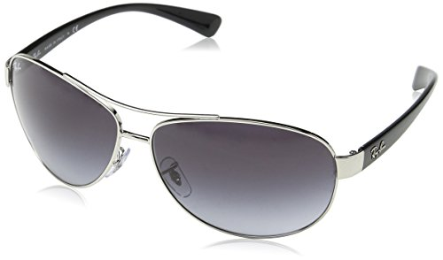 Ray-Ban RB3386 Aviator Sunglasses, Silver/Grey Gradient, 67 ()