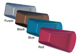 Four vibrant colors available
