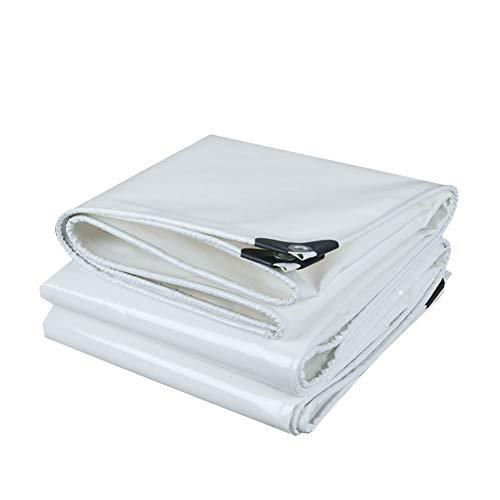 モード交換泳ぐCHAOXIANG ターポリン サンシェード 厚い 耐摩耗性 シェード キャノピー布 PVC 厚さ0.40mm、 19サイズ、 カスタマイズ可能な (色 : 白, サイズ さいず : 4.8mx7.8m)