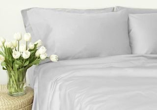 Soft Linen Collections 14 Inch deep pocket Fitted Sheet 300 Thread Count Twin 100% Organic Cotton White Solid by BN3 Linens by BN3 Linens
