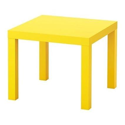 Amazoncom Ikea Lack Side Table Yellow 10324278 Kitchen Dining