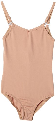 (Capezio Big Girls' Team Basic Camisole Leotard W/ Adjustable Straps,Light Suntan,L (12-14))