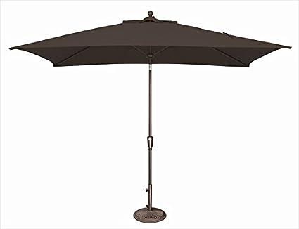 simplyshade catalina patio umbrella in black - Black Patio Umbrella