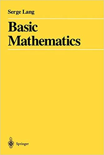 Basic Mathematics Serge Lang 9780387967875 Books