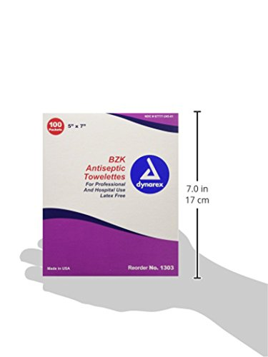 Dynarex BZK Antiseptic Towelette, 100 Count (Pack of 10) by Dynarex (Image #3)