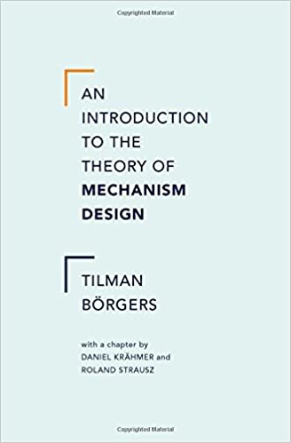 An Introduction To The Theory Of Mechanism Design 9780199734023