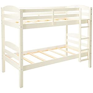 Walker Edison Solid Wood Twin Bunk Bed
