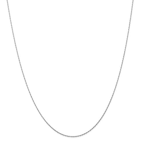 (Roy Rose Jewelry 14K White Gold (CARDED) Cable Rope Chain Necklace ~ Length 20'' inches)