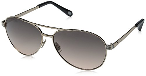 Fossil Women's FOS3051S Aviator Sunglasses, Rose Gold/Smoke Tan, 60 - Fossil Womens Sunglasses Aviator