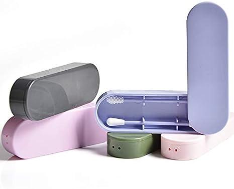 Wiederverwendbare Silikon-Wattest/äbchen-Ohrst/öpsel Kosmetische Reinigung Bud Stick Sicherheit Umweltfreundliche Beauty-Tool-Set mit langlebigen Aufbewahrungskoffer