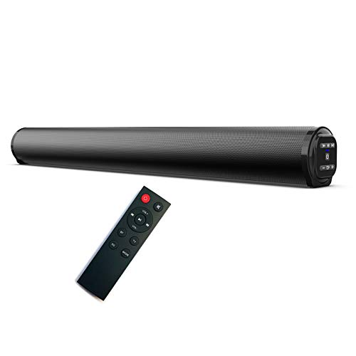 GYAM Sound bar Bluetooth Speaker with Built-in Subwoofer Surround Sound Bass Treble Adjustable with Remote Control for 4K HD and Smart TV