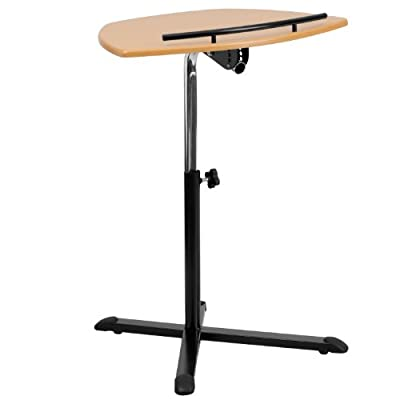 Height Adjustable Natural Laptop Computer Desk