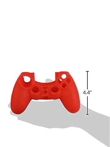 Generic Anti-Slip Silicone Skin Protector Cover for Wireless Game Controller, Red - PlayStation 4
