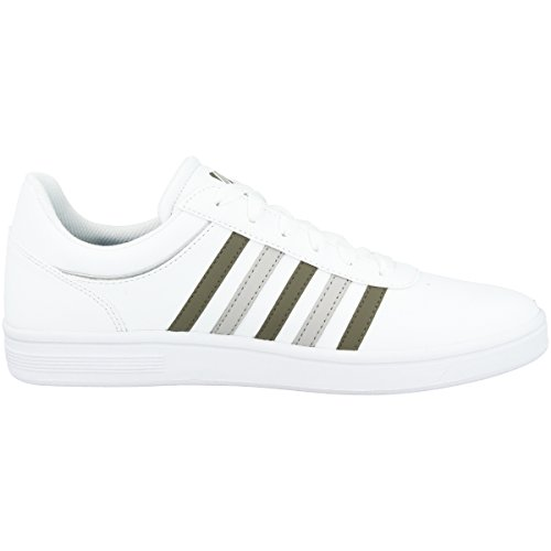 K-Swiss Men's Court Cheswick Low-Top Sneakers White-covert Green (05609-181) cheap sale explore G9Cky