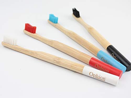 Cepillos de dientes de bambú Ophion, mango de madera, sin ...