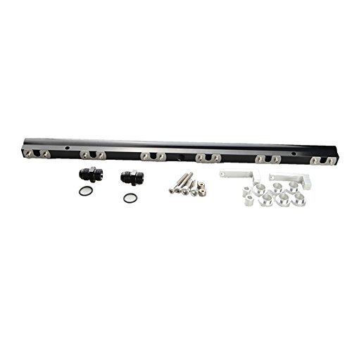 For Supra Mkiv 2JZ-GTE Aluminum High Flow Fuel Injector Rail Black - Mkiv Supra