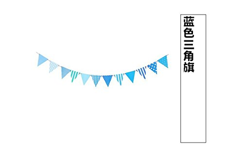 2.5M Paper Fabric Banners Wedding Bunting Decor Birthday Party Baby Shower Garland Decoration Dark -