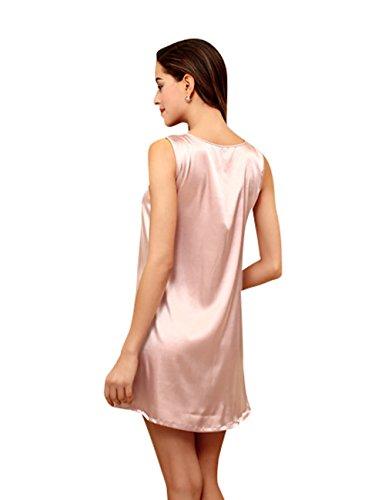 Luce rosa Camicia CUKKE Pigiama da Estate Notte Serie Donna Liscia Rayon zq1wqpgH