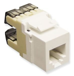 Cat 3 Jack RJ-11 HD White
