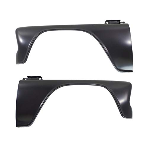Fender compatible with 1966 Chevrolet C10 Pickup Set of 2 Steel Primed Front Left and Right Side (1966 1960 Truck Chevy)
