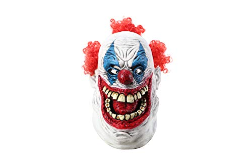 Halloween Scary Evil Circus Clown Horror Demon Joker Mask Big Mouth Clown Mask for $<!--$28.88-->