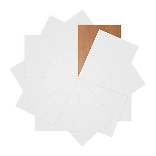 JANDJPACKAGING White Heat Transfer Vinyl Bundle 12 Pack of 12 x10 - Iron On T Shirts - White HTV Vinyl Sheets for Silhouette Cameo or Cricut, Teflon Sheet Included -
