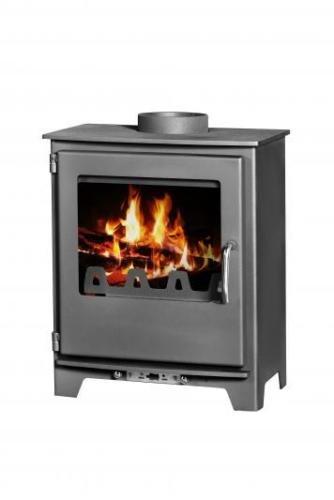 Nueva Moderna estufa de leña chimenea Log quemador moderno Multi combustible Neo 5 kW