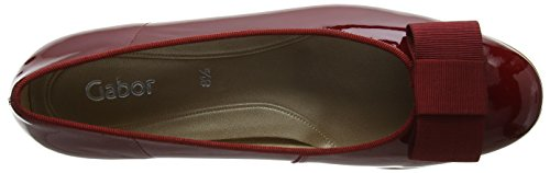 Gabor Shoes Fashion, Bailarinas para Mujer Rojo (cherry 95)