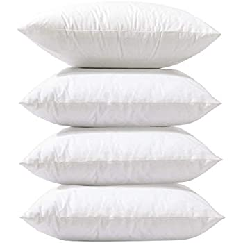 Amazon com: HIPPIH 4 Pack Pillow Insert - 18 x 18 Inch