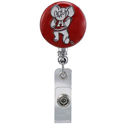 SANDOL University of Alabama Big Al Mascot Retractable Badge Reel (Alabama Mascot)
