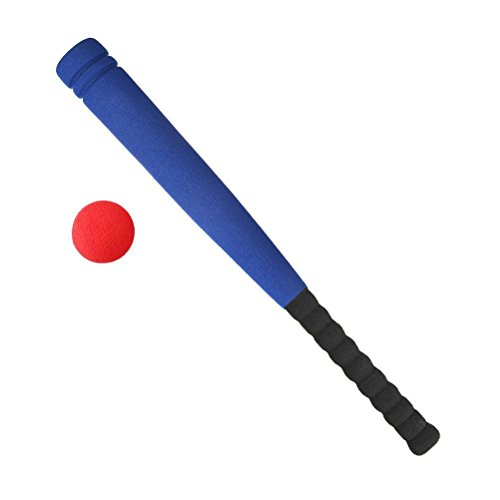 Kids Foam Baseball Bat Toys - Indoor Soft Super Safe T Ball Set for Children Age 3 - 5 Years Old by Aoneky