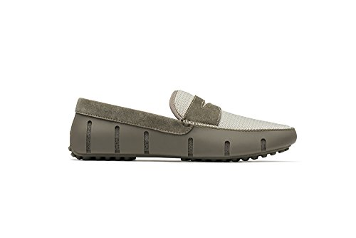 SWIMS Penny Loafer Driver DT In Khaki/White, Size 11 by SWIMS