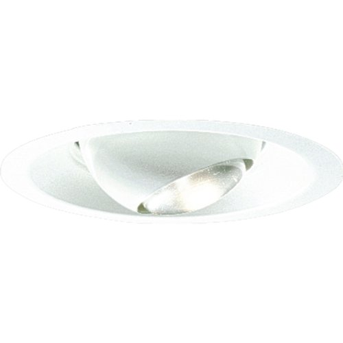 Progress Lighting P6678-29 Regressed Mini Eyeball Rotates 358 Degree and Tilts 30 Degrees Maximum, Satin White