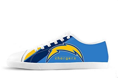 Chargers Logo Ladys Zapatos Antideslizantes De Lona Cargadores Canvas Zapatos04