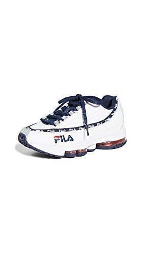 Amazon.com | Fila Women's DSTR97 Sneakers, White/Navy/Red, 8 ...