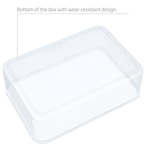 Large Product Image of Food Storage Containers- LOVKITCHEN 10-Piece Set Nesting Set Storage Containers, Meal Prep Containers- BPA Free with Leak Proof and Snap Locking Lids,Microwave Safe(0.24L,0.5L,0.9L,1.5L,2.4L)