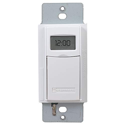 Intermatic EI400WC Programmable Electronic Countdown In-Wall Timer, White (Intermatic Tub Hot)