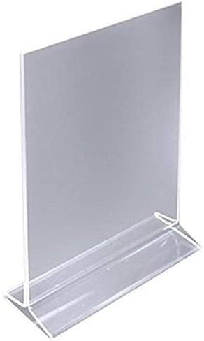 5 DL 1//3rd A4 Portrait 2 Sided Acrylic Perspex Menu Display Holder Counter Stand