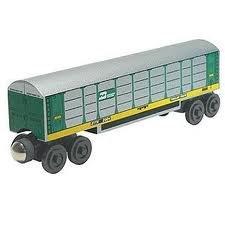 Whittle Shortline Railroad - Manufacturer Burlington Northern Autorack - Wooden Toy Train
