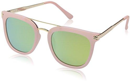 A.J. Morgan Women's Eh Rectangular Sunglasses, Matte Pink, 54 - By Morgan Aj Sunglasses