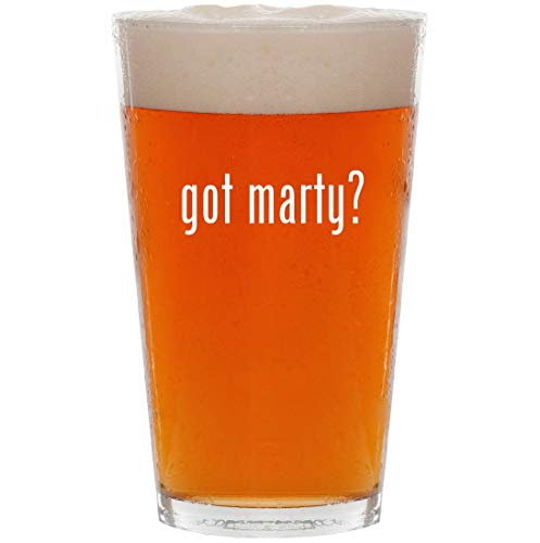 got marty? - 16oz All Purpose Pint Beer Glass