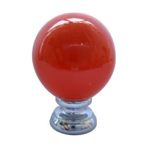 25mm Round Ceramic Colorful Simple Cabinet Cupboard Drawer Ball Knob Pull Handle Pack of 10 (Orange) ()