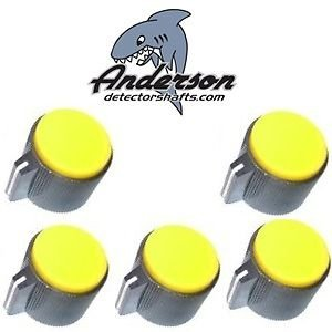 Anderson Minelab Excalibur Knob Set - YELLOW - 0919 by Anderson