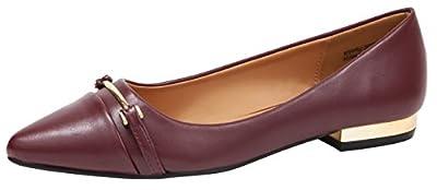 Cambridge Select Women's Closed Pointed Toe Horsebit Low Metallic Block Heel Slip-On Dress Loafer