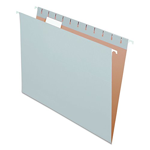 Pendaflex Recycled Hanging Folders, Letter Size, Gray, 1/5 Cut, 25/BX (Cut Colored Hanging File Folders)