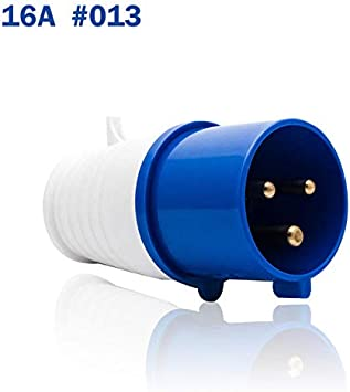 Blue 240V 16A 3 PIN Waterproof Industrial Site Plug /& Sockets IP44 Male//Female